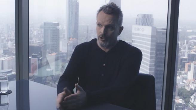 Miguel Bosé, en un momento de su entrevista con Jordi Évole.