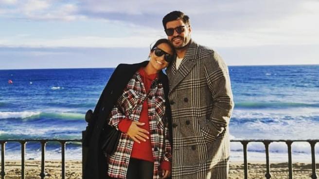 Paula Echevarría y Miguel Torres, en una imagen compartida por el exfutbolista en Instagram.