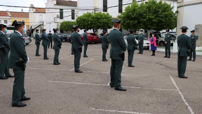 Acto de presentación de los nuevos guardias civiles que se incorporan a la Comandancia de Córdoba.