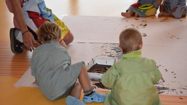 Archivo - Niños en una guarderia