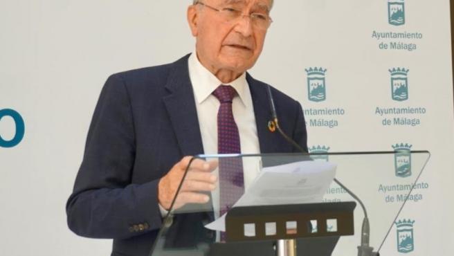 El alcalde de Málaga, Francisco de la Torre, durante una rueda de prensa en una imagen de archivo