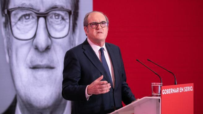 El candidato del PSOE a la Presidencia de la Comunidad de Madrid, Ángel Gabilondo, durante un encuentro virtual con alcaldes socialistas