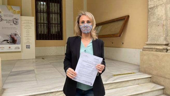 Eva Oliva, concejal del grupo Adelante Sevilla
