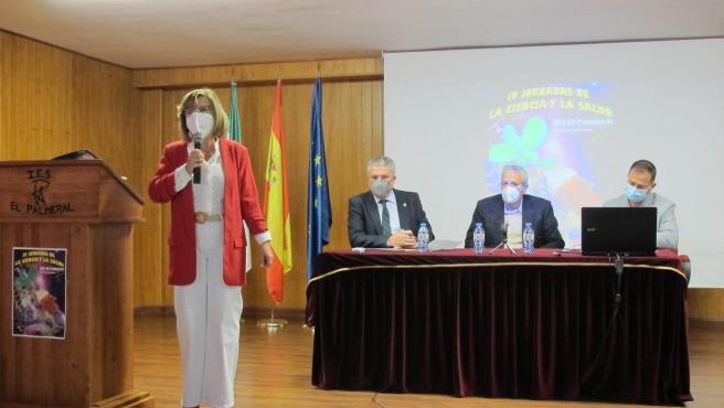 Inauguración de las jornadas en el IES El Palmeral de Vera (Almería)