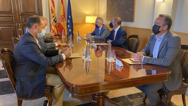Javier Lambán ha presidido la reunión.