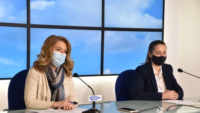 Las diputadas del PP Teresa Mallada y Cristina Vega