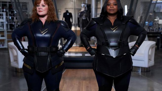 Melissa McCarthy y Octavia Spencer en 'Patrulla Trueno'.