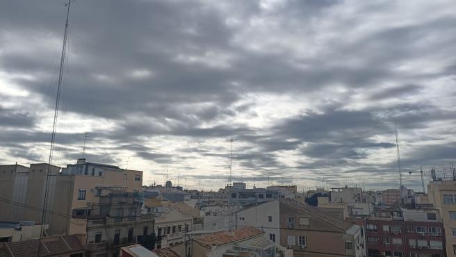 Nubes en el cielo de València