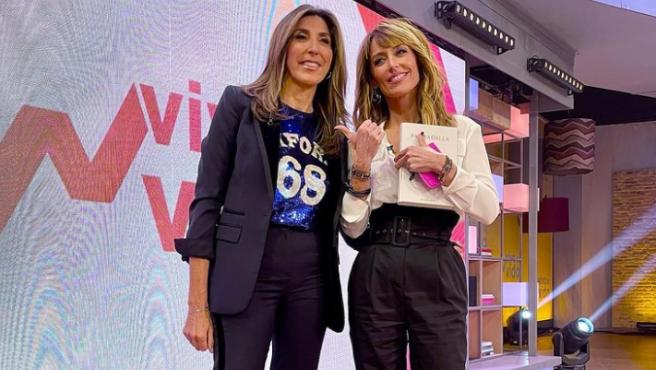 Paz Padilla y Emma García posan en el plató de 'Viva la vida'.