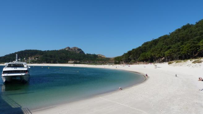 Playa de Rodas en las Islas Cíes, Vigo (Galicia).