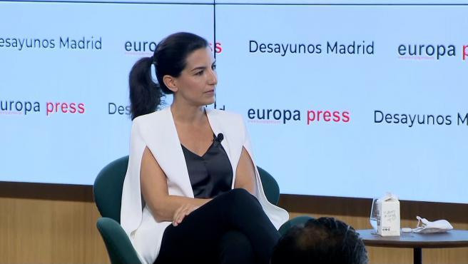 Rocío Monasterio señala que su objetivo es que Podemos no tenga escaños en Madrid