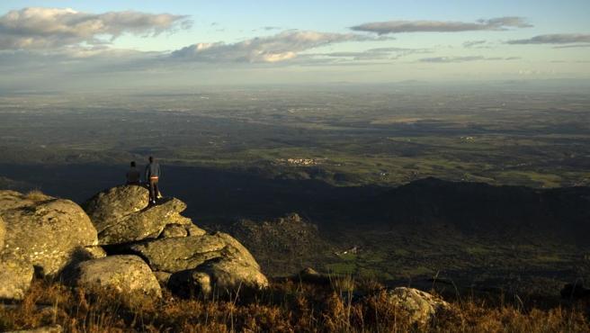 El valle del Tajo visto desde la Sierra de San Vicente (Toledo).