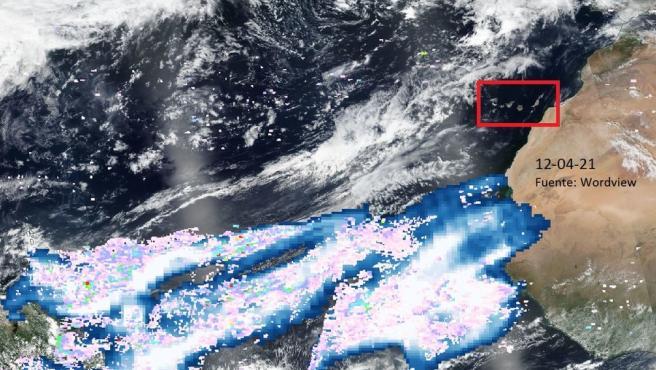 Evolución de la 'nube' de azufre en relación a Canarias