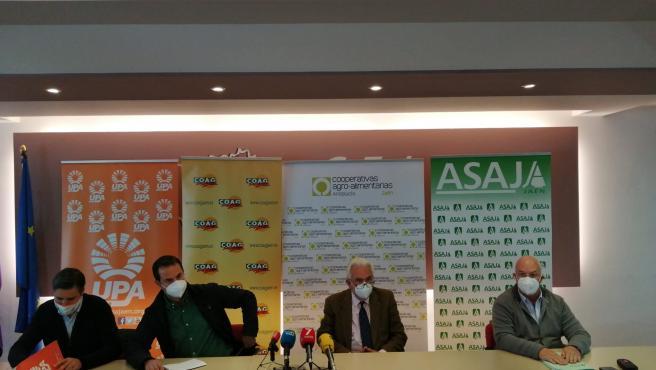 Imagen de la rueda de prensa para anunciar la fecha de las movilizaciones