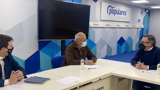 Luis María Beamonte se ha reunido con Lamuela en la sede autonómica del PP.