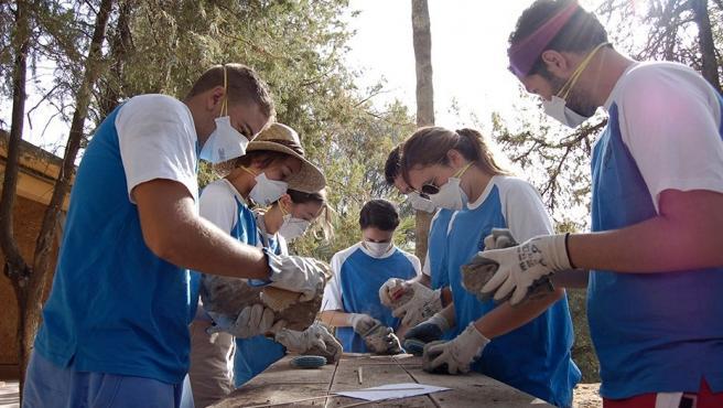 Participantes en un Campo de Voluntariado.