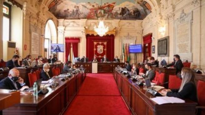 Pleno del Ayuntamiento de Málaga en una imagen de archivo