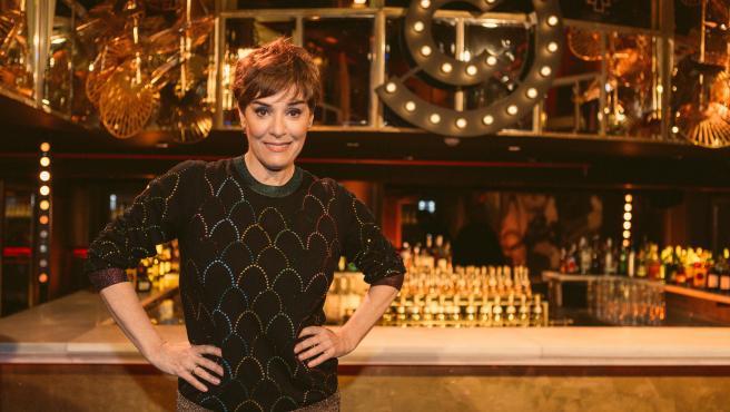 La actriz Anabel Alonso, en el plató de 'Comedy Central Presents'.