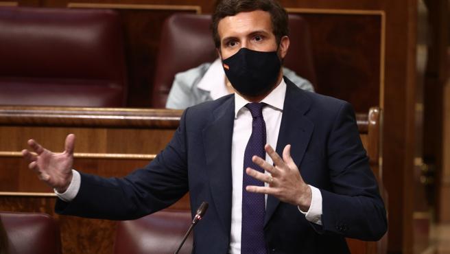 """'Génova' anticipa para Sánchez un escenario similar al de Zapatero en 2010: """"O sigue con Podemos o cumple con Europa"""""""