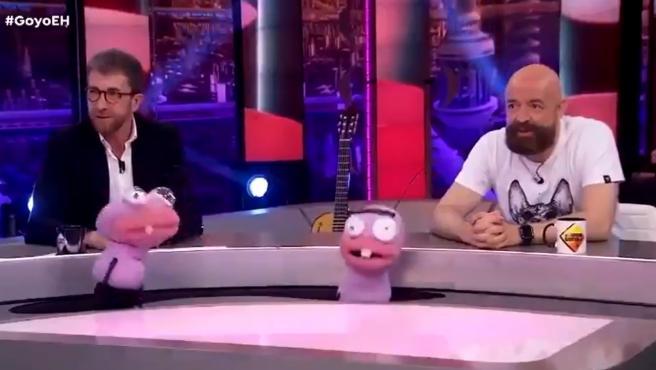 Goyo Jiménez y Pablo Motos en 'El Hormiguero'.