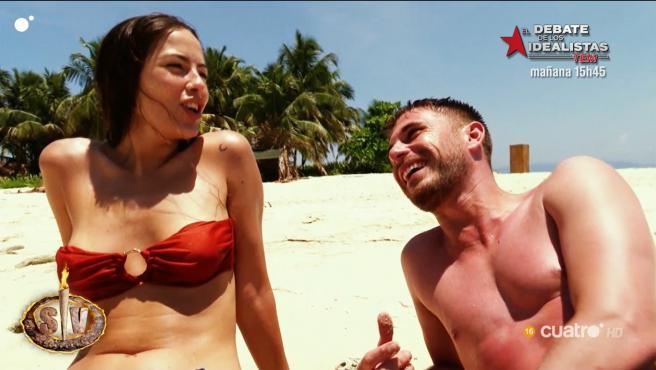 Melyssa Pinto y Tom Brusse, en 'Supervivientes 2021'.