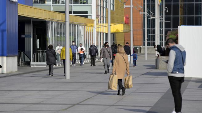 A Coruña Centro comercial marineda abierdo en fin de semana al relajar la Xunta de Galicia las medidas contra el Covid-19 27/02/2021 Foto: M. Dylan / Europa Press