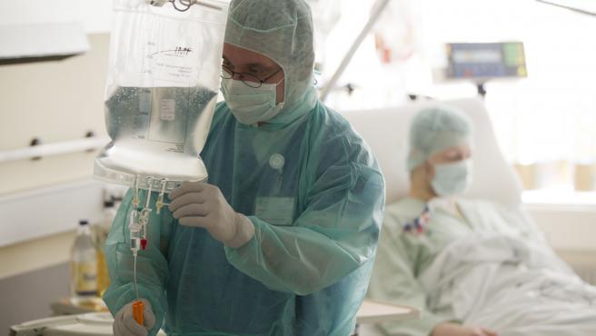 Imagen de un tratamiento de diálisis.