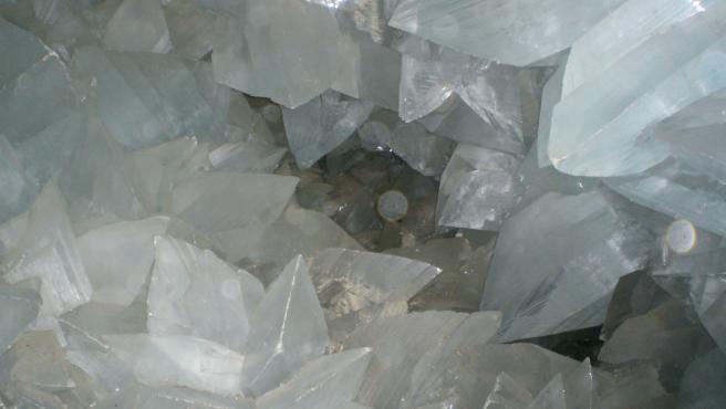 Imagen del interior de la Geoda de Pulpí.
