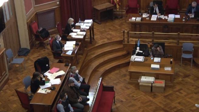 Juicio por la violación y asesinato a una niña de 13 años en Vilanova i la Geltrú (Barcelona) en 2018. En la Audiencia de Barcelona, el 12 de abril de 2021.