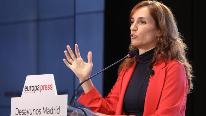 La candidata de Más Madrid a la Presidencia de la Comunidad, Mónica García, interviene en los Desayunos Madrid