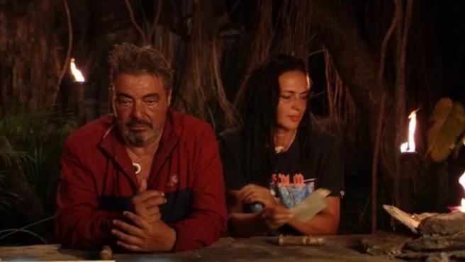Antonio Canales y Olga Moreno en 'Supervivientes'.