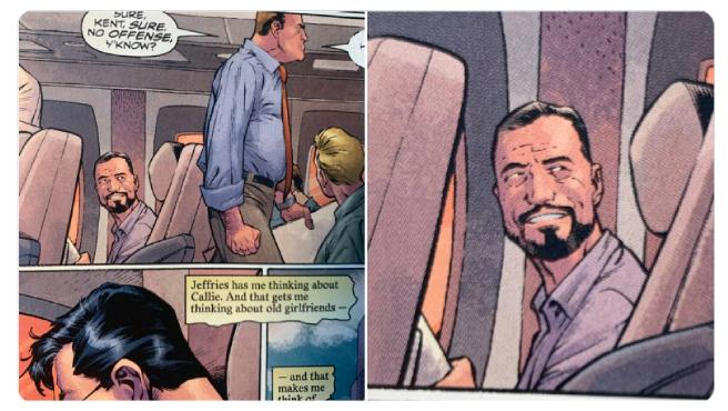 Arturo Pérez-Reverte en un cómic de Superman.