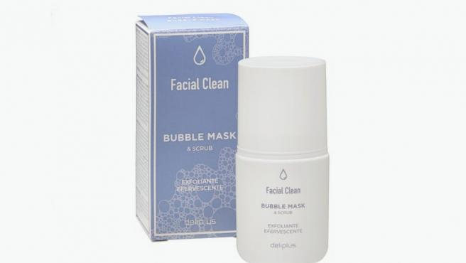 Crema Bubble Mask & Scrub Facial Clean de Deliplus.