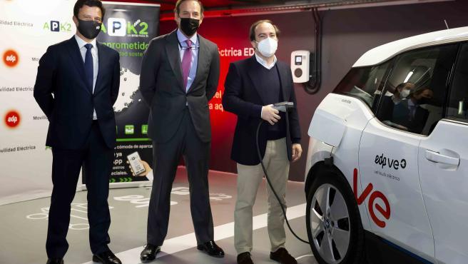 EDP y APK2 se alían para desplegar un plan de 200 puntos de recarga para coches eléctricos