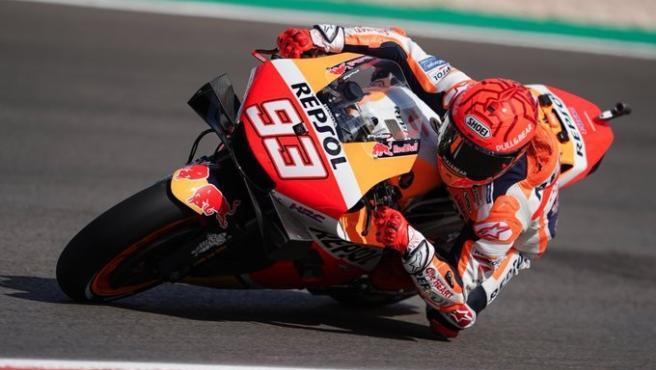 El piloto español Marc Márquez (Repsol Honda) durante los entrenamientos libres del Gran Premio de Portugal 2021