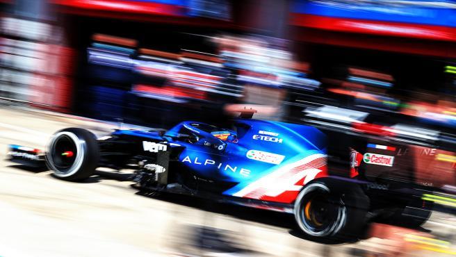 Fernando Alonso, en el GP de Emilia Romaña en Imola