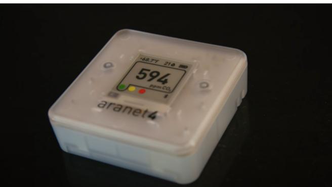 El sensor permite saber cuánta respiración hay en el aire.
