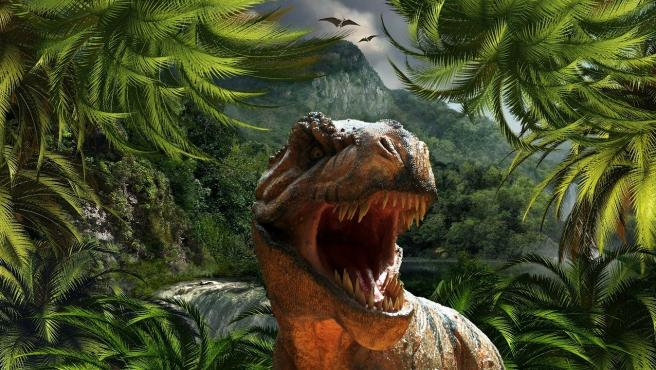 Representación de un 'Tyrannosaurus rex'.