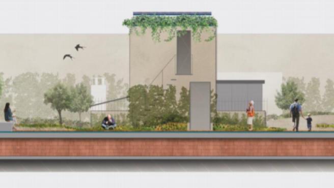 El futuro aspecto de la cubierta verde de un edificio de la calle Provença.
