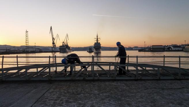 Archivo - La fragata 'Álvaro de Bazán' regresa a Ferrol tras permanecer cinco meses desplegada con la OTAN