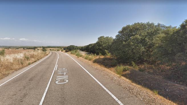 Imagen de la carretera CM-4140 en Azután, Toledo.