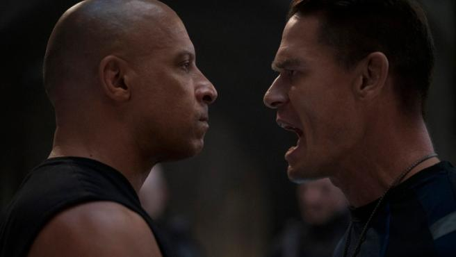 Vin Diesel and John Cena in 'Fast & Furious 9'