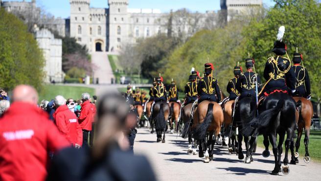 Momentos previos al funeral del duque de Edimburgo en el castillo de Windsor.