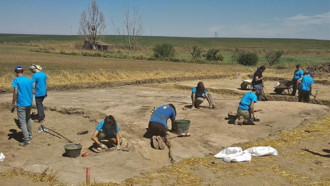 Imagen de una intervención arqueológica.