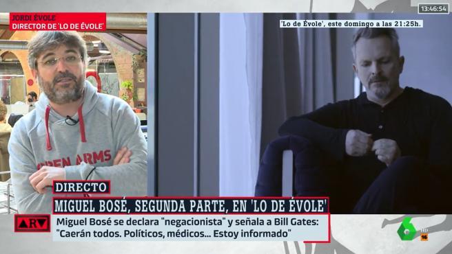 Jordi Évole habla en 'Al Rojo Vivo' sobre la entrevista a Miguel Bosé.