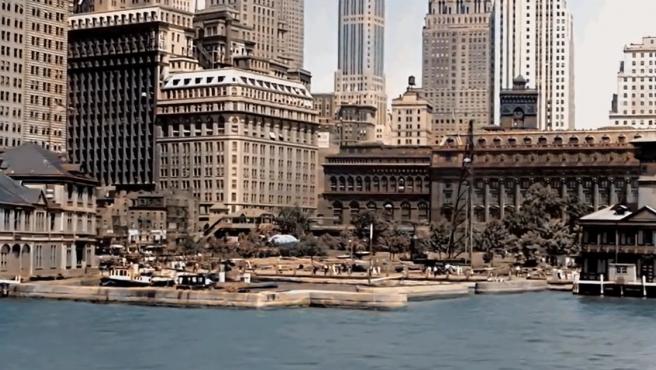 Captura del vídeo restaurado de Nueva York en 1930.