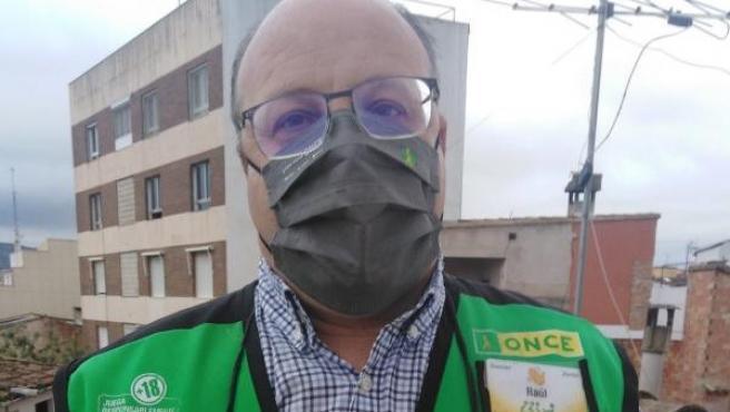Raúl Valiente, vendedor de la ONCE que ha dado el Cuponazo.