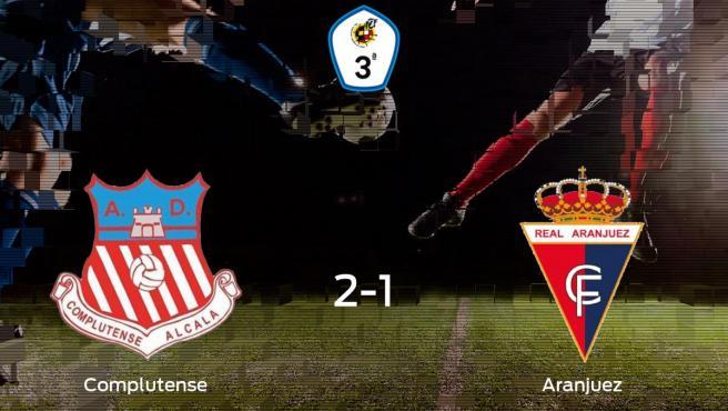 El Complutense Alcalá se lleva tres puntos después de derrotar 2-1 al Real Aranjuez CF