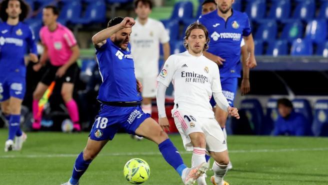 Un momento del Getafe vs Real Madrid.