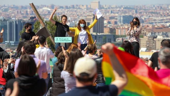 La candidata de Más Madrid al 4M, Mónica García, y el líder de Más País, Íñigo Errejón